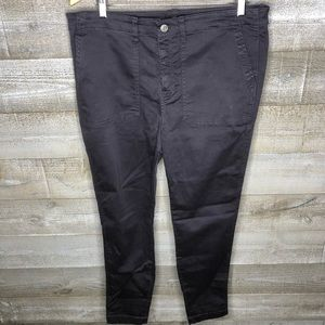 J Crew navy front pocket career khaki work pants